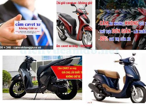 Nơi cầm cavet xe xe máy lãi suất thấp không giữ xe tại Tphcm